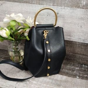 Sam Eldeman pebbled leather madalynn bucket bag